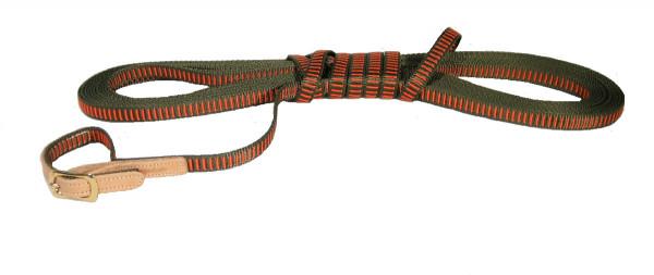 NIGGELOH - Schweißriemen orange/grün 12m/15mm kleine Hunde
