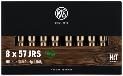 RWS - 8X57 IRS HIT 10,4 Bleifreie Jagdpatronen 20er