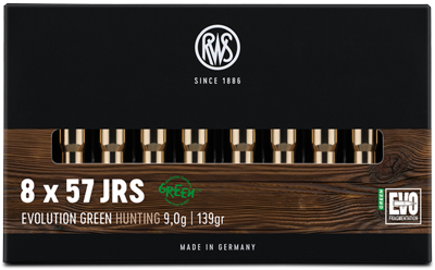 RWS - 8x57 IRS EVO GREEN 9,0/139 Bleifreie Jagdmunition 20er