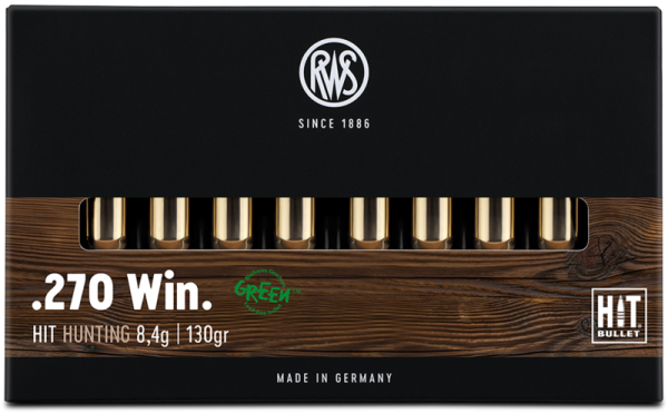 RWS - 270 WIN HIT 8,4 /135 Bleifreie Jagdmunition 20er