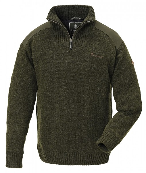 PINEWOOD - Hurricane Sweater Windstopper d.grün melange