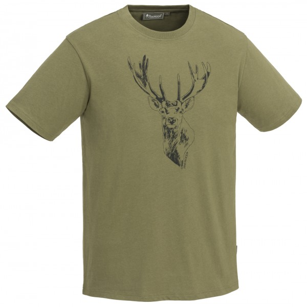 PINEWOOD - T-Shirt Red Deer h.olive - 713