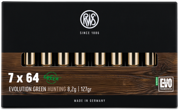 RWS - 7x64 EVO GREEN 8,2/127 Bleifreie Jagdmunition 20er