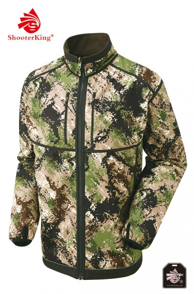 ShooterKing - Digitex Softshell grün-braun Wendejacke