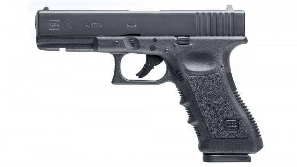 GLOCK - P 17 - 8 Schuss 4,5mm Diabolo + BB's  ,< 3,0J