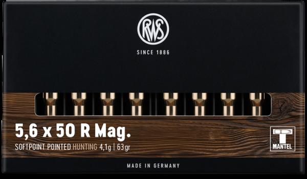 RWS - 5,6x50 R Mag TMS 4,1/63 rote Ringfuge 20er