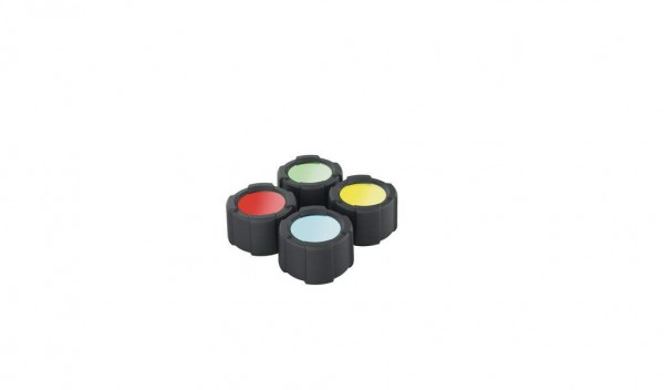 ZWEIBRÜDER - LED Lenser MT10 Farbfilter Set 32,5mm rot, blau, grün, gelb