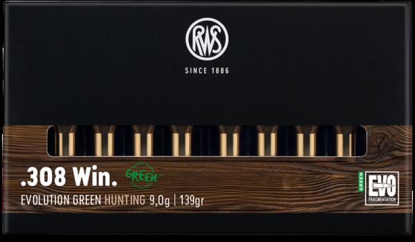 RWS - 308 WIN EVO GREEN 9,0/139 Bleifreie Jagdmunition 20er