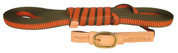 NIGGELOH - Schweißriemen orange/grün 12m/20mm große Hunde