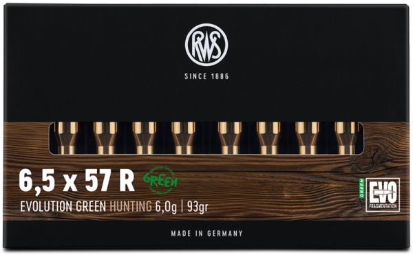 RWS - 6,5x57R EVO GREEN 6,0/93 Bleifreie Jagdmunition 20er