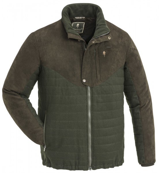 PINEWOOD - Edmonton Exclusive Jacke Wolle moosgrün/wildlederbraun 182