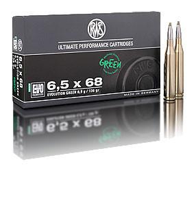 RWS - 6,5X68 EVO GREEN 6,0/93 Bleifreie Jagdmunition 20er