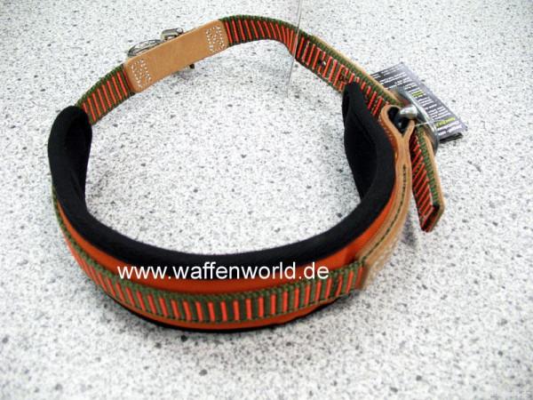 NIGGELOH - Schweißhalsung orange/grün S = 40-50cm mittelgroße Hunde