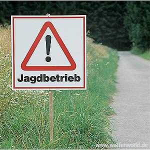 ALLJAGD - Warnschild Jagdbetrieb 500x500mm rot/schwarz