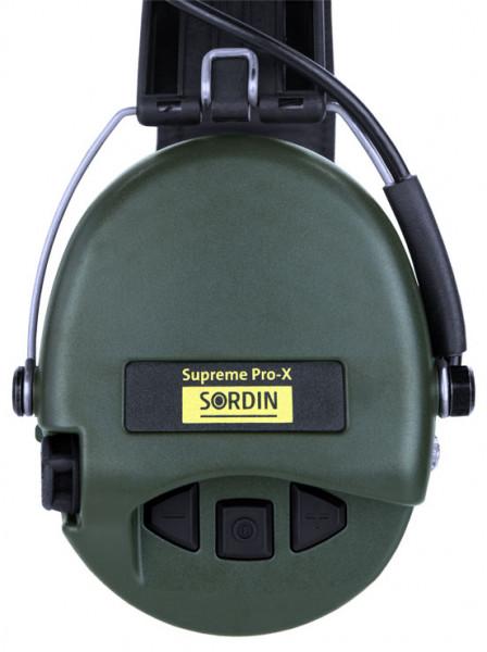 SORDIN - Supreme Pro-X wasserdicht Gelkissen Lederband grüne Cups