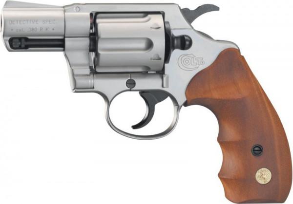 COLT - Detective Special Nickel/Holz 9mm R.K.