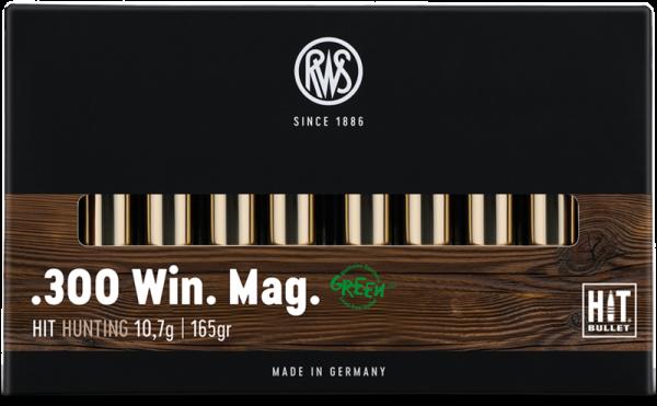 RWS - 300WinMag HIT 10,7/165 Bleifreie Jagdmunition 20er