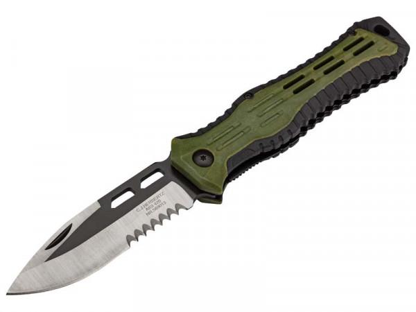 HERBERTZ - 5890 Taschenmesser, Stahl AISI 420, teilsägezahnung,