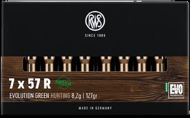 RWS - 7x57 R Evo Green 8,2/127 Bleifreie Jagdmunition 20er