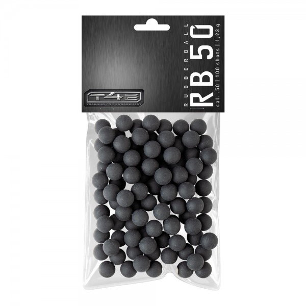 UMAREX - T4E 50 RubberBall  Prac-Series .50 -100 Stk., Gummikugeln