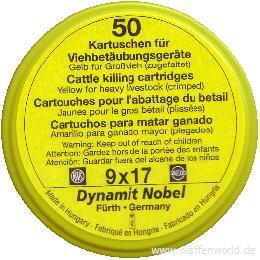 RWS - Viehbetäubungpatr gelb 9x17 für Großvieh