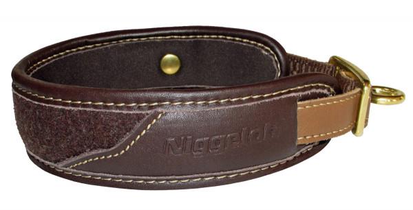 NIGGELOH - Halsung Classic Loden braun XS 30-40cm (Teckel)